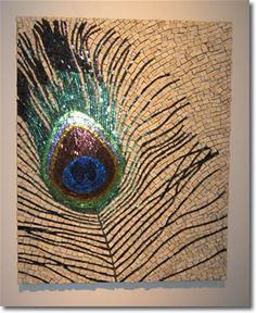 Margo Anton peacock feather #mosaic. Via mosaic art source (SAMA MAI 2007 - Mesa, AZ).
