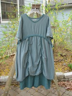 Barclay Batiste 2 Tier Empire Dress Teal Size 1 - BlueFishFinder