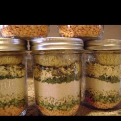 Christmas soup...in a jar! Easy and super speedy gifts.
