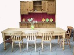 One of the biggest pine tables we make! Pine Furniture, Kitchen Furniture, Pine Table, Affordable Furniture, Contemporary Furniture, Kitchens, Tables, Dining Table, Home Decor