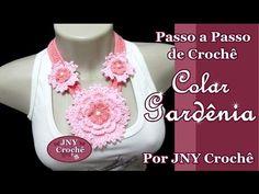 Passo a Passo de Crochê Colar Flor Gardênia por JNY Crochê