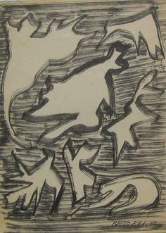 E. Besozzi pitt. 1960  Composizione pennarello su carta cm 16,3x12 arc. 121
