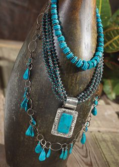 Turquoise & Black Gold Jewelry