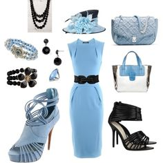 Kentucky Derby Blue, Dress is gorgeous, but would like to see classic high heels with it.