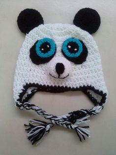 Panda crochet hat / Gorro de Panda en crochet