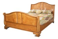 Hampton Walnut Sleigh Bed with regular footboard Walnut Bedroom Furniture, Barrel Furniture, Her Wallpaper, Angel Strawbridge, Antique White Paints, French Bed, Sleigh Beds, Diy Tv, Headboard And Footboard