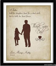 Items similar to Father Daughter Gift, Gift For Dad, Father of Bride Gift,Personalized Father's Day Gift, A Father holds quote Custom Print Art on Etsy Father Daughter Quotes, Fathers Day Quotes, Fathers Day Crafts, Father Of The Bride, Bride Gifts, Wedding Gifts, Wedding Ideas, Do It Yourself Food, Unique Gifts For Dad