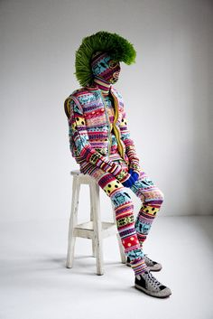 zomg! love love this! cashmere/wool knit monster by sibling. fair isle stitch?