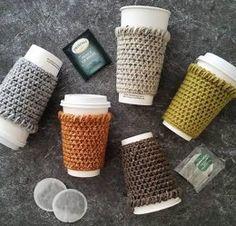 Crochet Coffee Cozy Pattern, Easy Crochet Pattern, Crochet Coffee Sleeve Pattern, Crochet Coffee Mug Cozy, Crochet Coffee Cup Sleeve : Crochet Coffee Cozy, Crochet Cozy, Crochet Gifts, Cozy Coffee, Things To Crochet, Coffee Cups, Coffee Latte, Free Crochet, Beginner Crochet Projects