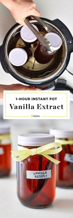 DIY Instant Pot or Pressure Cooker Vanilla Extract Recipe. This homemade extract is great it you're looking for cheap and inexpensive homemade gifts for Christmas or holidays for your family or friends. Here's how to make it!