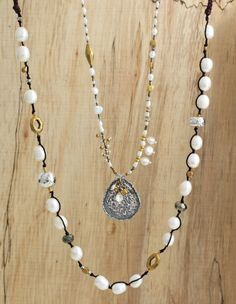 Mixed Metal and #Pearl: The perfect combination | Down to Earth and Fresh Outlook Necklaces