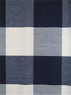 """4"""" Check Navy - Laura & Kiran fabric, Yarn dye plaid fabric. Suitable for bedding, curtains, slipcovers, upholstery, pillows. 100% organic cotton, Repeat; V:8"""" H:8"""". Width; 54""""."""