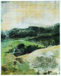 Landscape Painting. Diana Mulder Beautiful soft folds in the hills