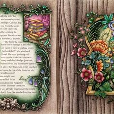 #EzRepost @kristenlambertbedelis with @ezrepostapp  And... here's the finished double page spread of 'Through the Door into the World of Enchantia' for the Collaboration Colouring Project ✍️. @johannabasford #showyourcolours #showyourcolors #johannabasford #inkyivy #ivyandtheinkybutterfly #collaborationcolouringbook #colouring #coloring #coloringbook #adultcoloringbook #adultcolouring #coloringforadults #polychromos #staedtlerergosoft #staedtlertriplusfineliner #prismacolorpencils #love...