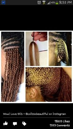 My hair on Pinterest | Natural Hair, Senegalese Twists and Yarn Braids