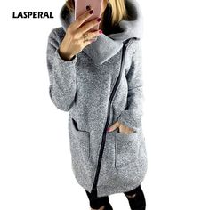 LASPERAL Plus Size 5XL Women Coat 2017 Autumn Winter Hoodie Warm Fleece Jacket Slant Zipper Collar Coat Jacket Jaqueta Femininos #LASPERAL #basic-jackets #women_clothing #stylish_basic-jackets #style #fashion