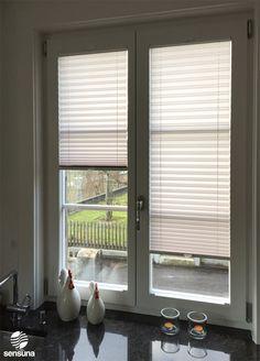sensuna® Küchenplissee - nach Maß gefertigt - Kundenfoto / Customized kitchen pleated blinds - customerphoto