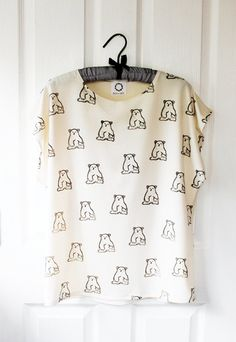 Little Bear Batwing Top bone jersey by RoEnArt on Etsy, $35.00