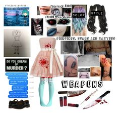 """Wicked Wendy (creepypasta OC/10 Day OC Challenge)"" by c0smicgal ❤ liked on Polyvore featuring Dr. Martens and RED Valentino"
