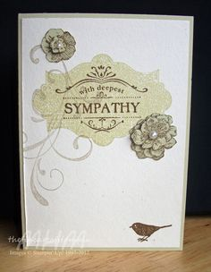 The Fine Art of Stampin'   Stampin' Up!  Everything Eleanor sympathy card