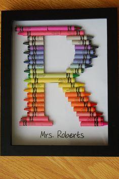 Personalized Teacher Gift Framed Monogram in by TooCoolChicks, $27.50