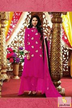 Pavitraa Dark #Pink Long #Party Wear #Salwar Suits