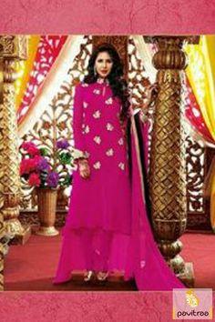 Pavitraa Dark #Pink Long #Party Wear #Salwar Suits