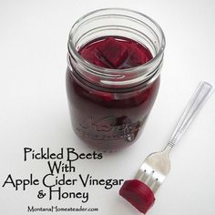 How to make and can pickled beets with apple cider vinegar and honey. So delicious and healthy! Montana Homesteader: