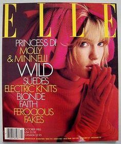 Lara Young x Elle October 1985 Ashley Richardson, Elle Magazine, Magazine Covers, Diana, 1990s Supermodels, Princess Caroline, Vogue, Benetton, Print Ads