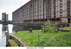 The Stanley Dock Tobacco Warehouse, Liverpool. Built in it is the world's largest brick building and has now been turned into apartments. Liverpool Docks, Liverpool History, Liverpool Home, London Docklands, Brick Building, Factories, Warehouses, Worlds Largest, Apartments