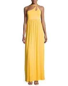 T8VFL Rachel Pally One-Shoulder Keyhole Maxi Dress, Vibrant