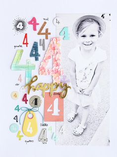 In The Scrap: Layout with Numbers & Tutorial - Por Steffi More