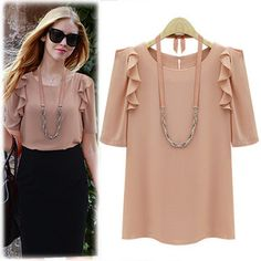 Find More Blouses & Shirts Information about dudalina shirt women ladies blouses fly sleeve chiffon Half sleeve women blouse girl chiffon shirt womens tops fashion New 2014,High Quality blouse patterns,China blouse men Suppliers, Cheap blouses clothing from Tina Fashion Woman Clothing Store on Aliexpress.com