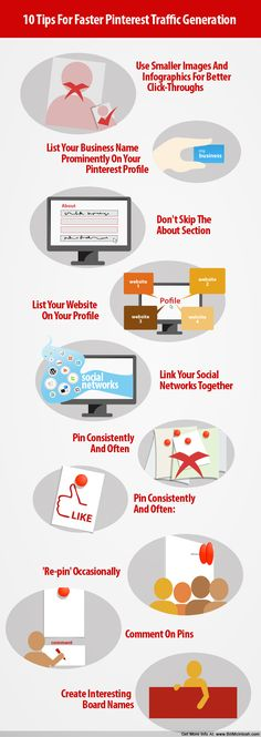 10 Tips For Faster Pinterest Traffic Generation #Infographic