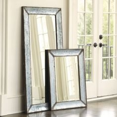 "Zinc Framed Mirror  | Ballard Designs Dimensions: Wall: 36 5/8"" X 26 5/8"" X 1 1/2""D Wall Mirrored Area: 27 1/8"" X 17 3/8"" Wall Mirror Frame: 4 3/4""W Wall Mirror Bevel: 1""W"