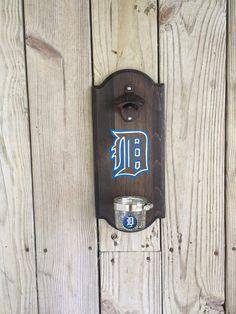 Detroit Tigers Rustic Wall-mounted Bottle Opener
