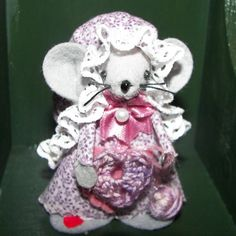 Crochet Mouse Ornament Cecelia sweet felt mice gift for by Warmth, $15.00