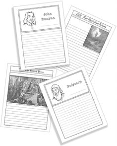 Advanced Church History notebooking pages on CD - from Hold That Thought (missionaries, events, maps)