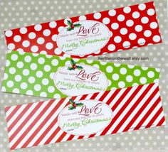 Christmas Food Gift Tags for Neighbor Gifts by ItsWrittenOnTheWall
