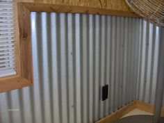 Garage walls... Corrugated metal. This is what gave me the idea of doing a wall in diamond plate, later decided to do a order, but be optimistic!!