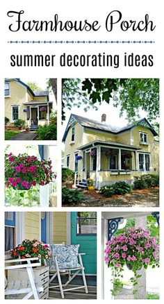 Farmhouse Entry: Summer Refresh - Town & Country Living - - A farmhouse entry and porch can be cozy and charming. See how to add the elements of summer to give your entry and porch a fresh look for the season! Backyard Hammock, Pergola Patio, Backyard Patio, Summer Porch Decor, Summer Front Porches, Summer Decorating, Porch Decorating, Decorating Ideas, Interior Decorating