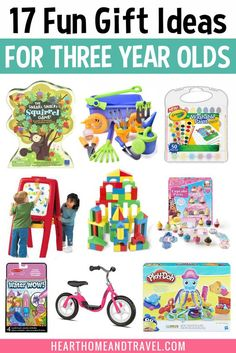Christmas Gifts For Three Year Olds, Gifts For 3 Year Old Girls, Gifts For Kids, 3 Year Old Birthday Gift, Birthday Gifts For Boys, Boy Birthday Parties, 3rd Birthday, Birthday Ideas, 3 Year Old Toys
