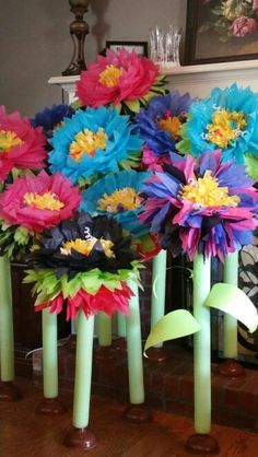 Journey off the map tissue flowers. Total cost only $3.00 each!!!