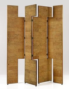 View Important four-panel screen by Eileen Gray on artnet. Browse upcoming and past auction lots by Eileen Gray. Eileen Gray, Room Divider Screen, Room Screen, Room Dividers, Cork, Vintage Furniture, Furniture Design, Gray Furniture, Condo Furniture