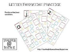 Printable | Letter Formation Practice | Lowercase | Teacher@Home #AODlinkup