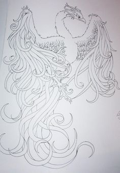 tattoo fenix oriental desenho - Pesquisa Google