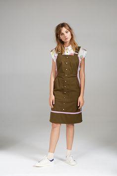 APRON DRESS AND CROP SHIRT Apron Dress, Crop Shirt, Overall Shorts, Overalls, Women Wear, Contemporary, Pants, Shirts, Collection