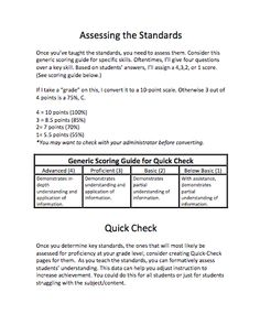 assessing students in common core