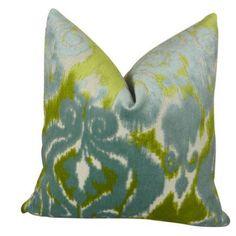 Plutus Velvet Bliss Water Handmade Throw Pillow, Double Sided, Multicolor