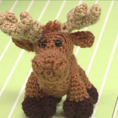 This fella is a friend all-year long! Learn how to crochet this stuffed Merry Moose - it's so easy you'll want to make an entire herd of these fun toys!